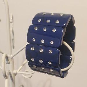 womens blue domino cz bracelet